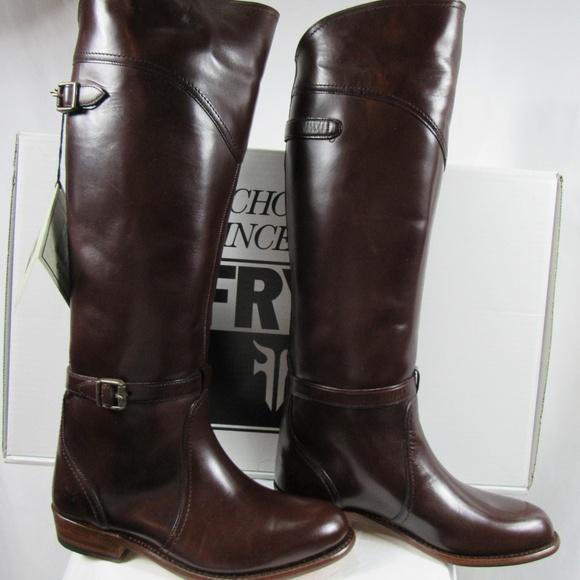 2df4f9f0721d FRYE Dark Brown Dorado Tall Riding Boots NEW